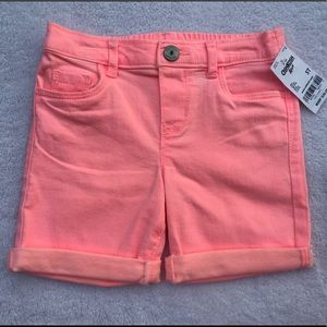 Oshkosh Pink Denim Shorts Size 5T NWT